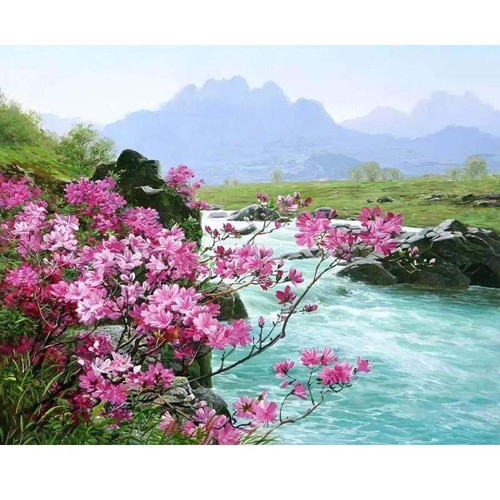 Riverside Flowers - DIY Painting By Numbers Kits
