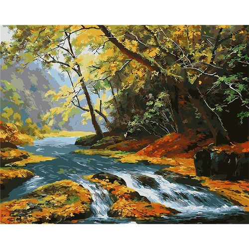 Little Clear Stream - DIY Painting By Numbers Kit