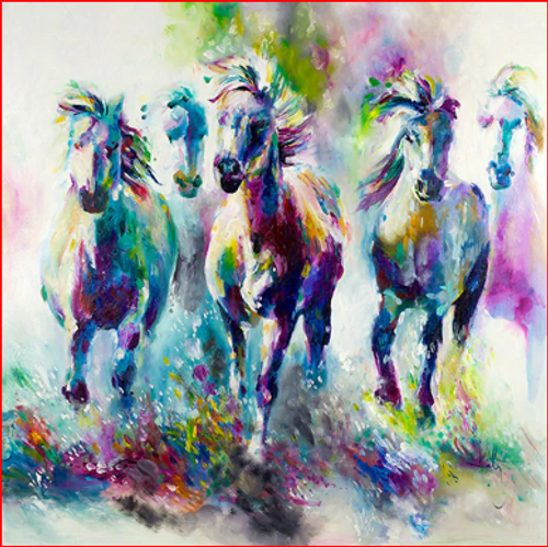 Running Horse Colors - DIY Painting By Numbers Kit