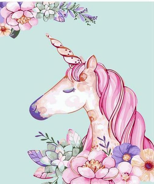 Peaceful Unicorn - DIY Painting By Numbers Kit