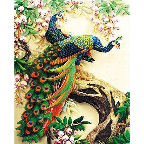 Botswana Peacocks - DIY Painting By Numbers Kit