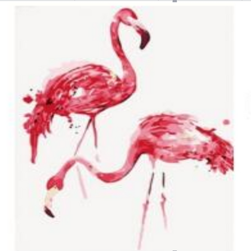 Flamingo Amigos - DIY Painting By Numbers Kit