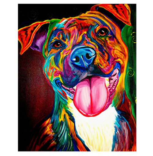 Happy Dog Colors - DIY Painting By Numbers Kit