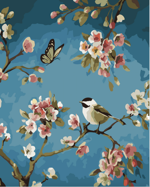 Bird & The Butterfly - DIY Painting By Numbers Kit