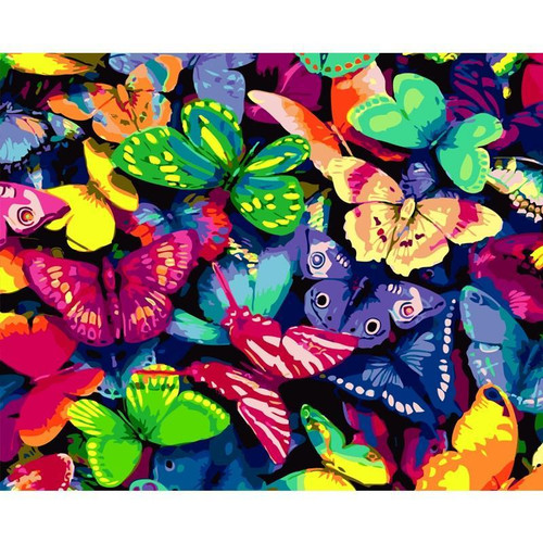 Colorful Butterflies - DIY Painting By Numbers Kit
