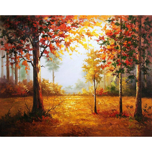 A Forest In The Fall - DIY Painting By Numbers Kit