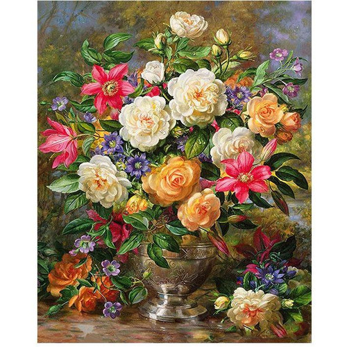 Stunning Flowers - DIY Painting By Numbers Kit