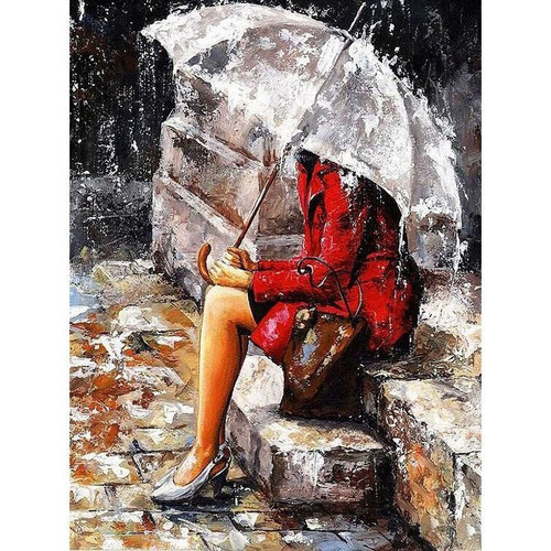 Alone In The Rain - DIY Painting By Numbers Kit