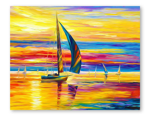 Sailboat Sunset - DIY Painting By Numbers Kit