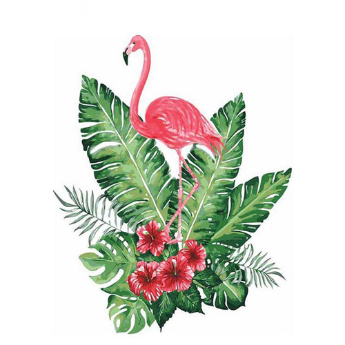 Flamingo Hibiscus - DIY Painting By Numbers Kit