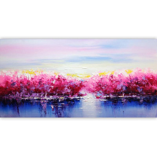 Pinks and Blues - DIY Painting By Numbers Kit