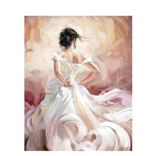 Angel Floral Dress - DIY Painting By Numbers Kit