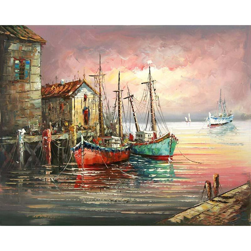 An Old Port - DIY Painting By Numbers Kit