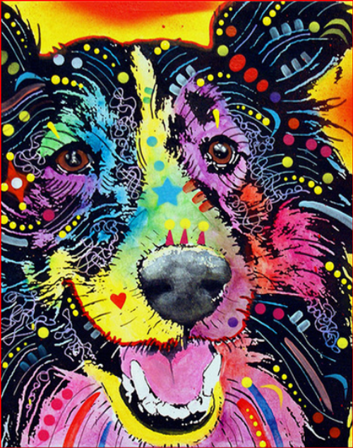 Color Dog - DIY Painting By Numbers Kit