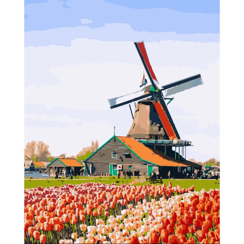 Tulip Garden 2 - DIY Painting By Numbers Kit