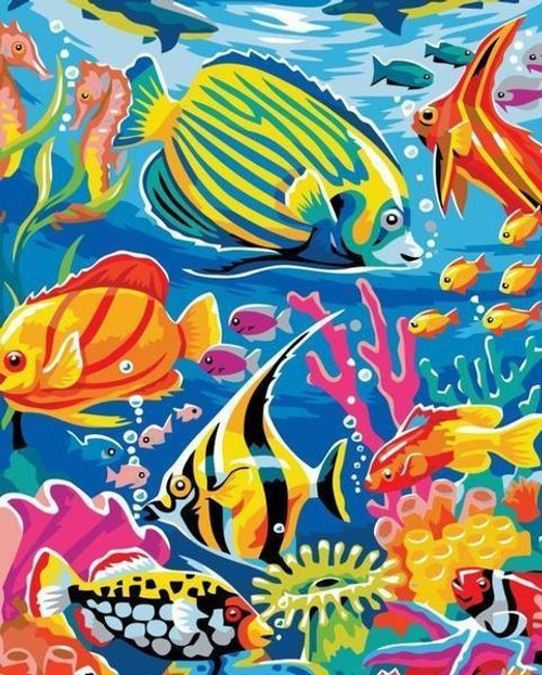 Colorful Fishes - DIY Painting By Numbers Kit