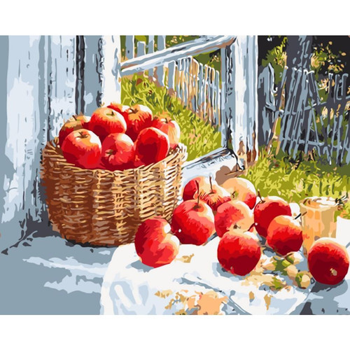 Fruits Scattered - DIY Painting By Numbers Kit