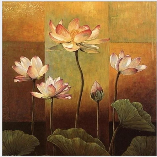 Lotuses - DIY Painting By Numbers Kit
