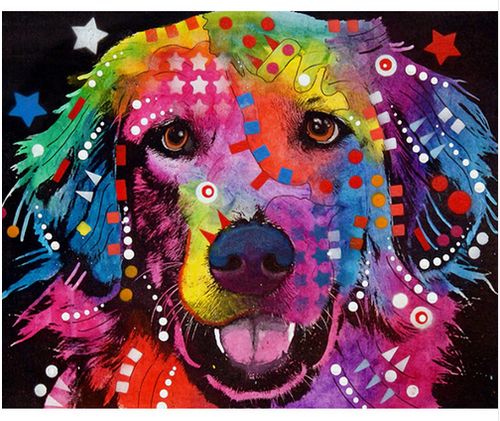 Innocent Color Dog - DIY Painting By Numbers Kit