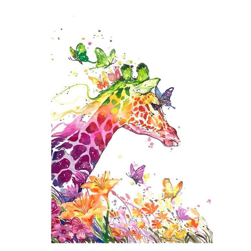 Colors Of Giraffe - DIY Painting By Numbers Kit