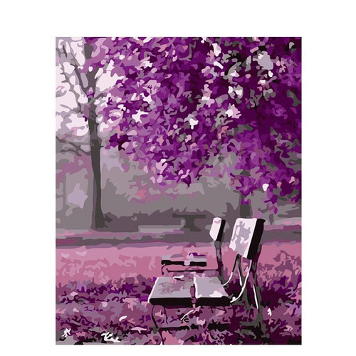 Acrylic Purple Surrounding - DIY Painting By Numbers Kit