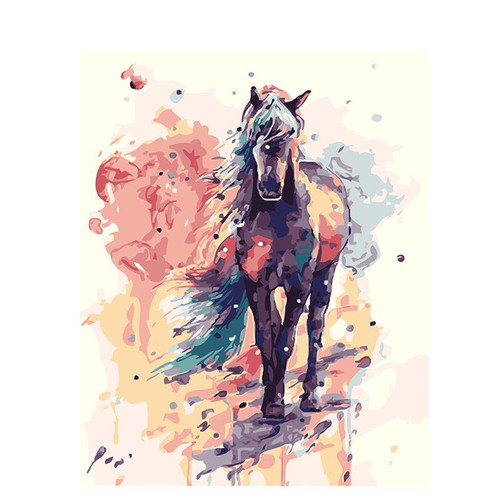 Horse Colorful Paint - DIY Painting By Numbers Kit