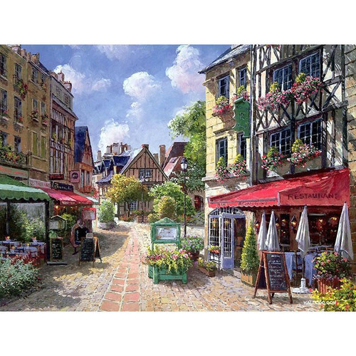 Paris Village - DIY Painting By Numbers Kit