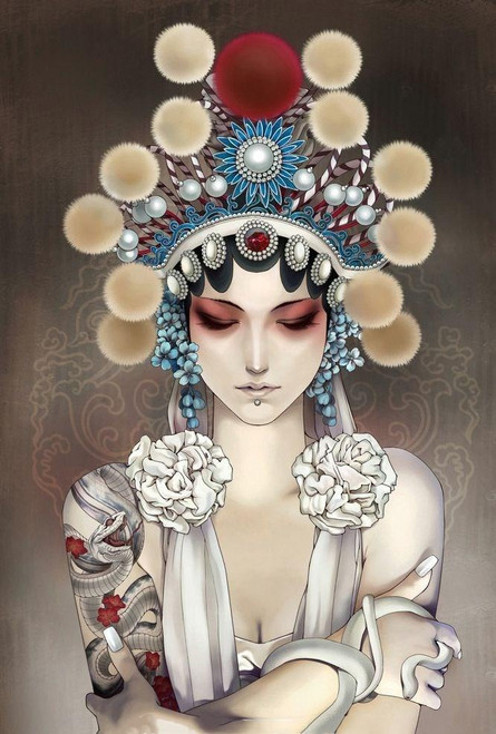 Chinese Opera Girl - DIY Painting By Numbers Kit