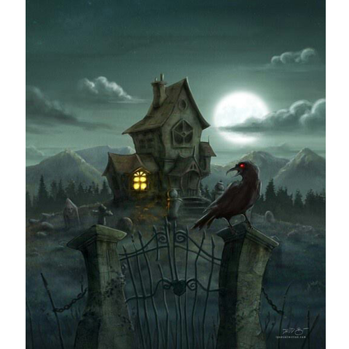 Dark NIght - Halloween 5D DIY Paint By Number Kit