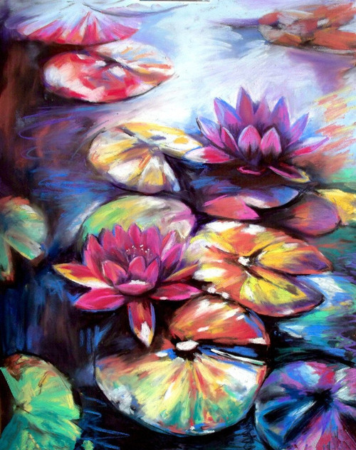 Lotus Lights - DIY Painting By Numbers Kit