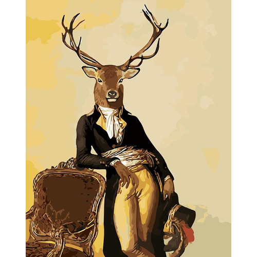 Deer Gentleman - DIY Painting By Numbers Kit