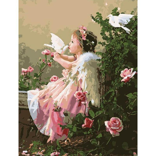 Adorable Angel - DIY Painting By Numbers Kit