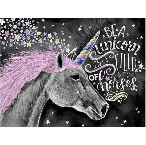 Be A Unicorn - DIY Painting By Numbers Kit