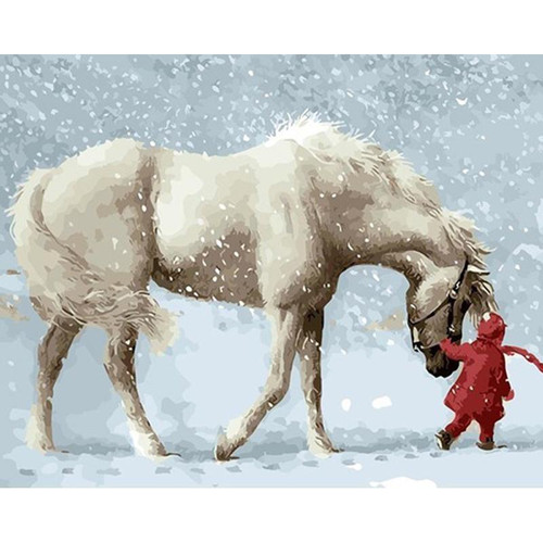Horse and Child - DIY Painting By Numbers Kits