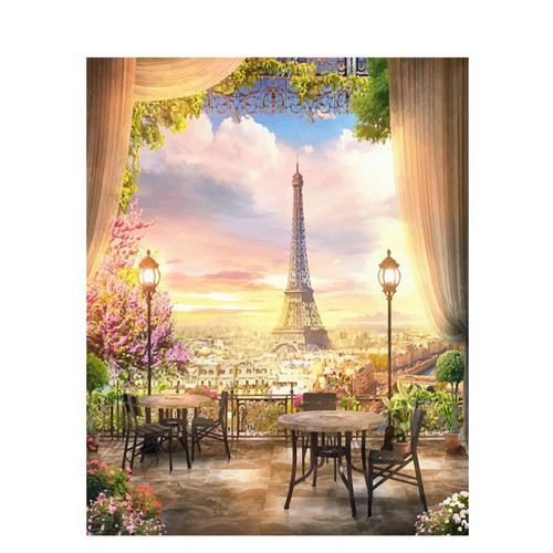 Lit Evening In Paris - DIY Painting By Numbers Kit