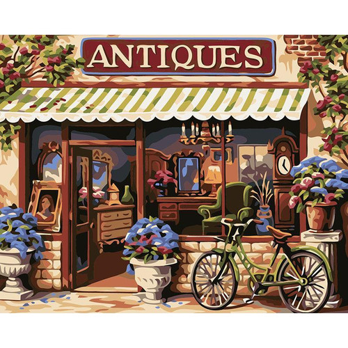 Antiques Store - DIY Painting By Numbers Kit