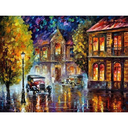 A Scene Of City - DIY Painting By Numbers Kit