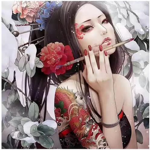 Japanese Tattoo Making - DIY Painting By Numbers Kit