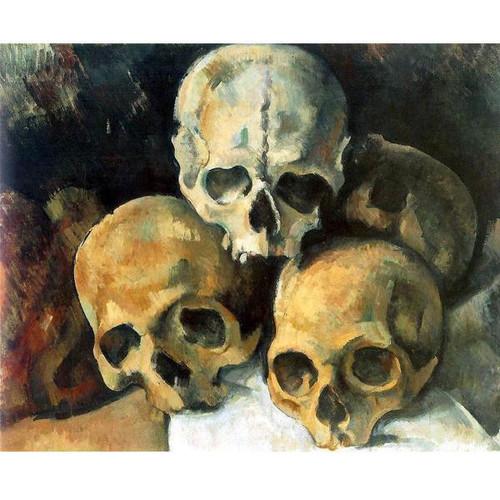 Pyramid Of Skulls - Paul Cezanne DIY Painting By Numbers Kit