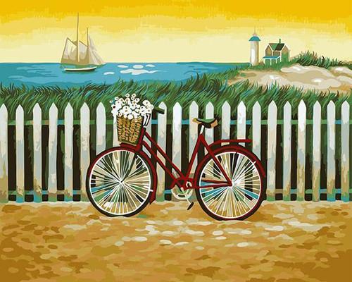 Cute Bicycle - DIY Painting By Numbers Kit
