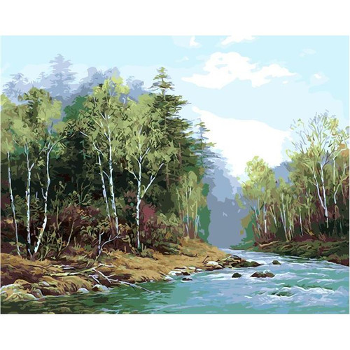 Forest Serenity - DIY Painting By Numbers Kit