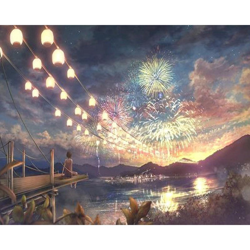 Fireworks Night - DIY Painting By Numbers Kits