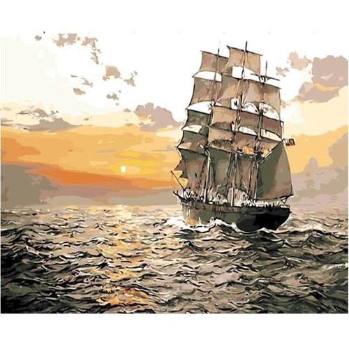 Sailing Ship - DIY Painting By Numbers Kit