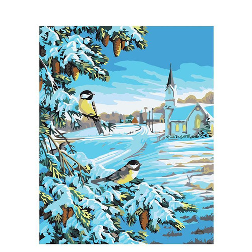 Birds On Tree - DIY Painting By Numbers Kit