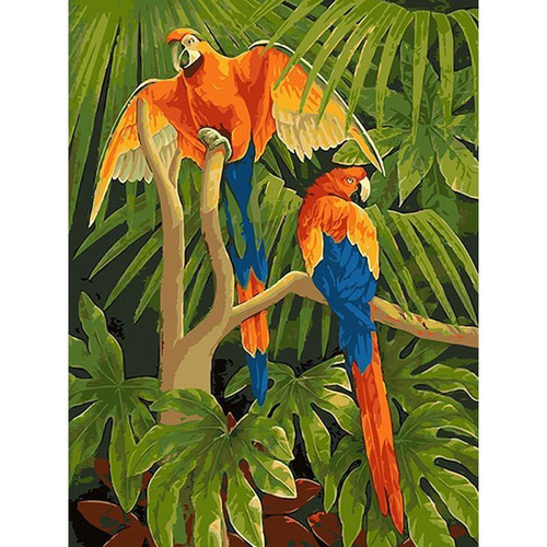 Beautiful Parrots - DIY Painting By Numbers Kit