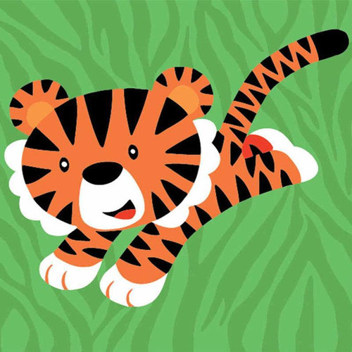 Brave Tiger - DIY Painting By Numbers Kit