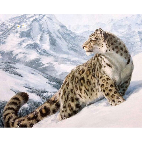 A Snow Cheetah - DIY Painting By Numbers Kit