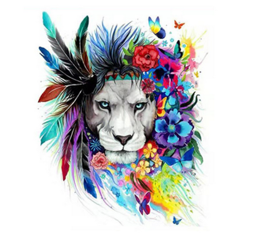 Lion Art - DIY Painting By Numbers Kit