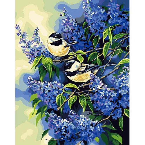 Two Little Birds - DIY Painting By Numbers Kit
