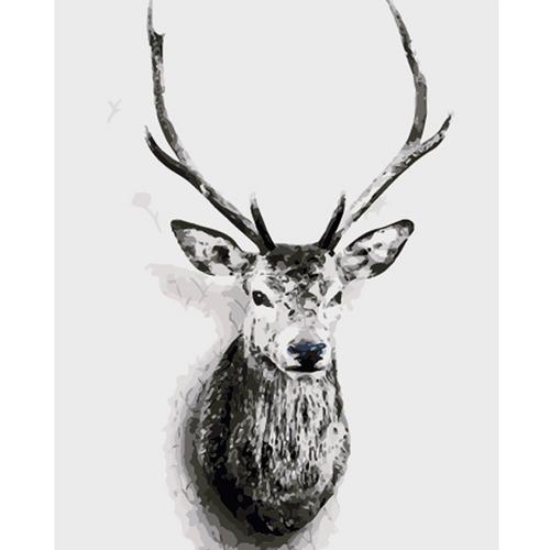 Deer with Antlers - DIY Painting By Numbers Kits